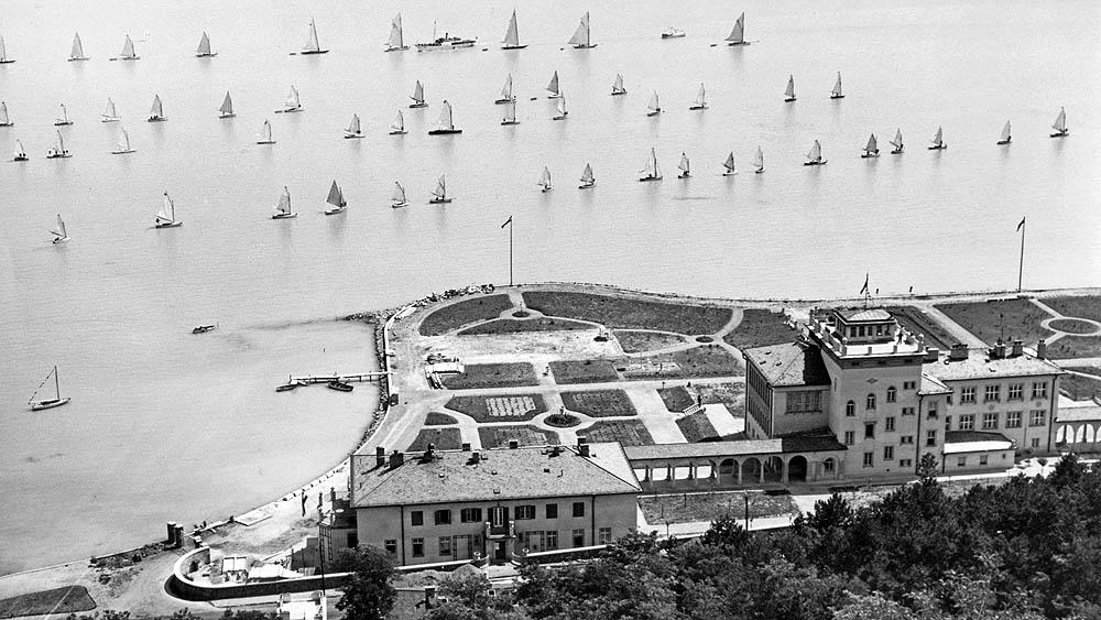 A tihanyi limnológiai intézet 1936-ban, 9 évvel a létrehozása után