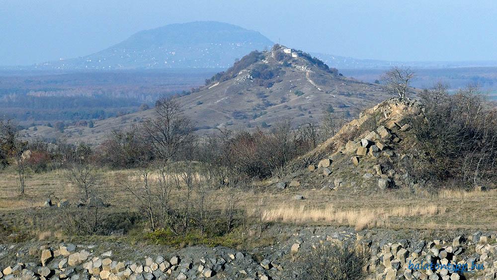 Kilátás északi irányba a Cseket-hegy és a Somló felé