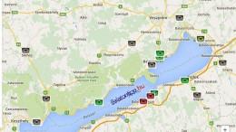 Balaton körüli traffipaxok pontos helye térképen